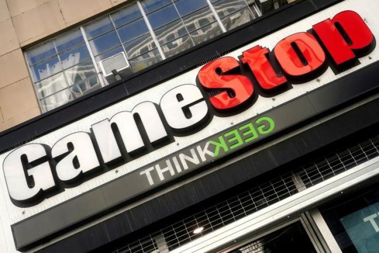 Un magasin du revendeur américain de jeux vidéo GameStop à New York, le 29 janvier 2021.
