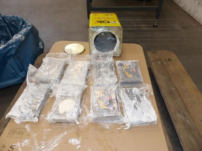 Ein Teil des am 12. Februar in Hamburg beschlagnahmten Kokains.