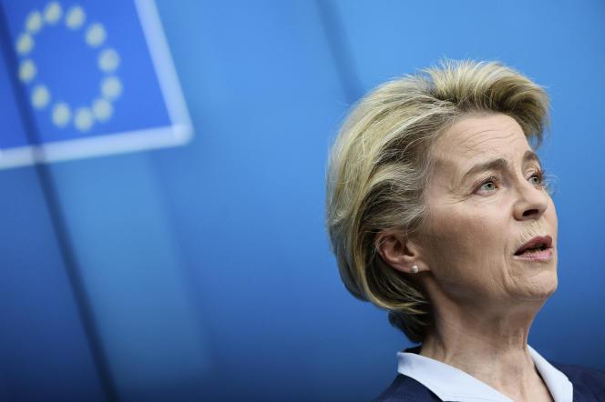 European Commission President Ursula von der Leyen in Brussels on February 26, 2021.