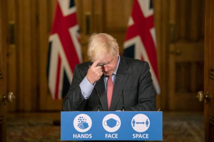 Le premier ministre britannique, Boris Johnson, le 30 septembre 2020, à Londres.