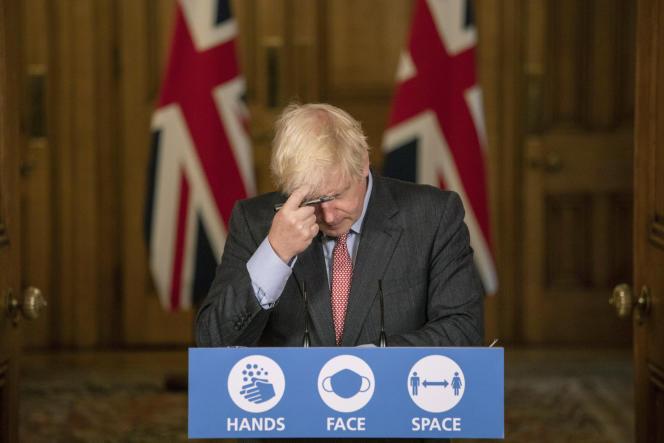 British Prime Minister Boris Johnson on September 30, 2020 in London.