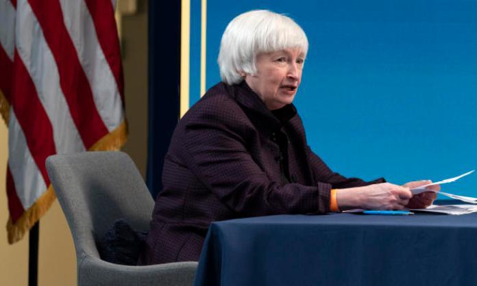 La secrétaire d'Etat au Trésor américain, Janet Yellen, le 5février, à Washington.