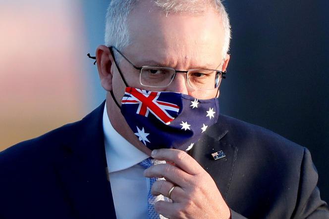 Le premier ministre australien, Scott Morrison, ici à Tokyo (Japon) en novembre 2017, a déclaré, jeudi, que son gouvernement réviserait la législation sur la discrimination sexuelle.