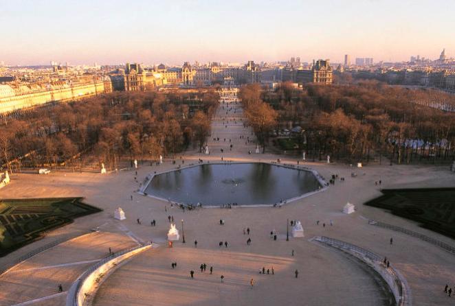 Le bassin octogonal du Jardin des Tuileriesprès du Louvre à Paris, où la sculpture de Marcos Lozano Merchan doit être temporairement installée en 2022.