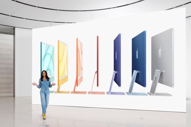 Le design et les couleurs du nouvel iMac.