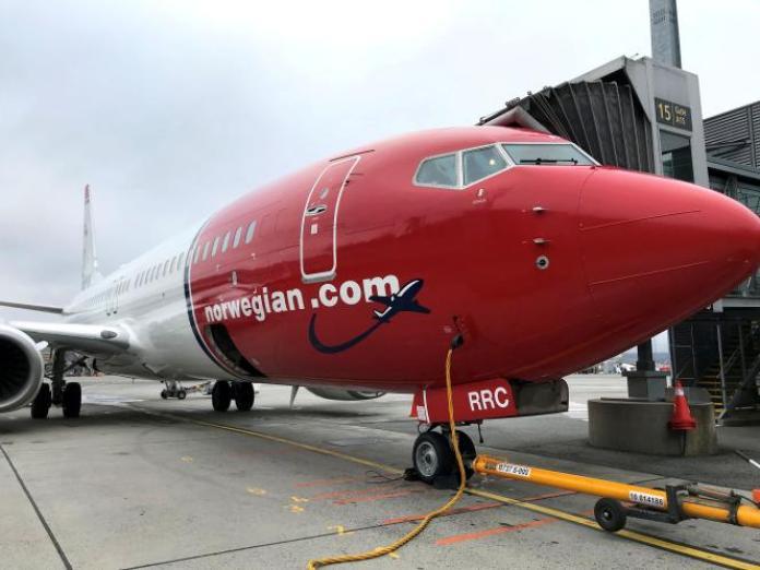 Un avion de la compagnie Norwegian, le 7 novembre 2019, à Oslo.