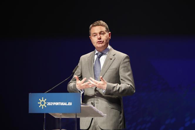 Le ministre irlandais des finances Paschal Donohoe, à Lisbonne, vendredi 21 mai.