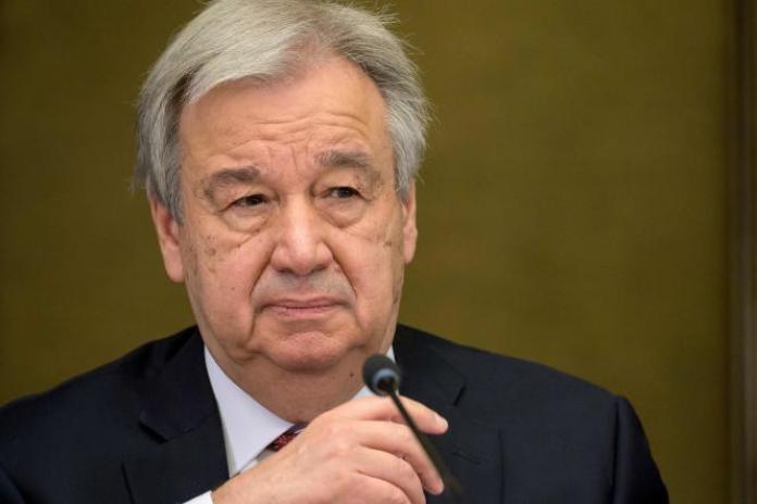 Le secrétaire général de l'ONU, Antonio Guterres, le 29 avril 2021.