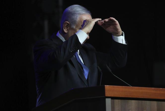 Le premier ministre israélien Benyamin Nétanyahou, lors d'une cérémonie hommage à l'action du système de santé face à la pandémie de coronavirus, le 6 juin 2021, à Jérusalem.