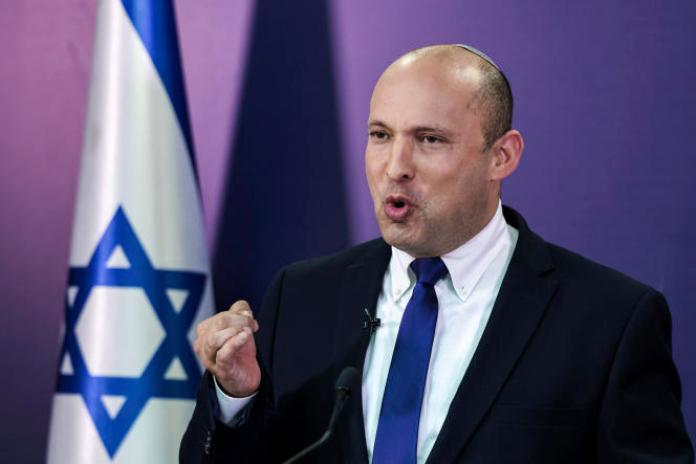 Naftali Bennett, député de Yamina, à la Knesset le 6 juin 2021, à Jérusalem.