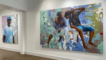 Jean-David Nkot expose sa condition humaine à Paris