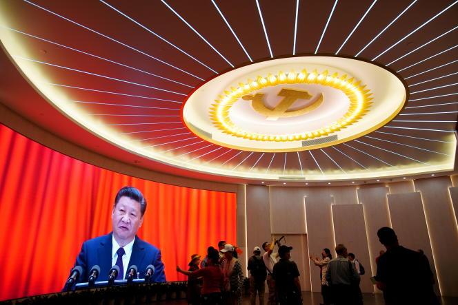 Le président chinois, Xi Jinping, célèbre le centenaire du Parti communiste chinois, à Shanghaï, le 4 juin 2021.