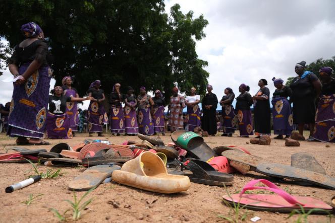 A Chikun, dans l'Etat de Kaduna, après l'attaque du lycée baptiste Béthel, le 14 juillet 2021.