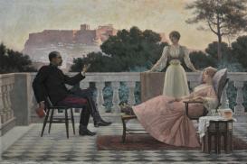 «Soirée athénienne» (1897), Athènes parIakovos Rizos.