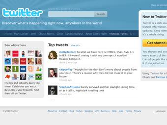 Скриншот главной страницы Twitter