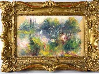 """""""Пейзаж на берегу Сены"""" Ренуара. Изображение с сайта Potomack Company"""