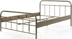 140x200 cm bed with Boston taupe metal base