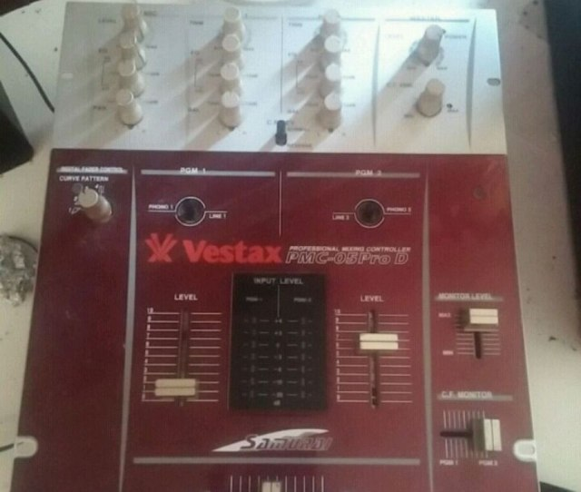 Red Vestax Pmc 05 Pro D Audio Mixer