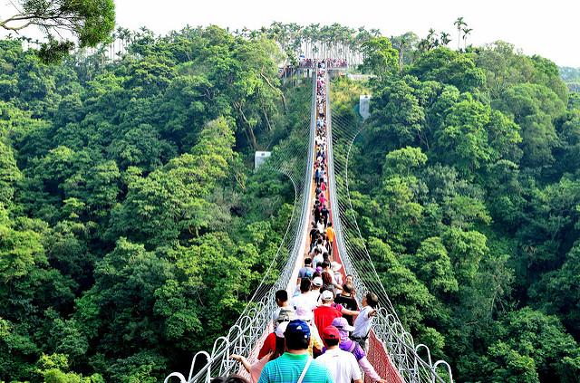 [南投市]排隊的人跟橋一樣長~猴探井天空之橋