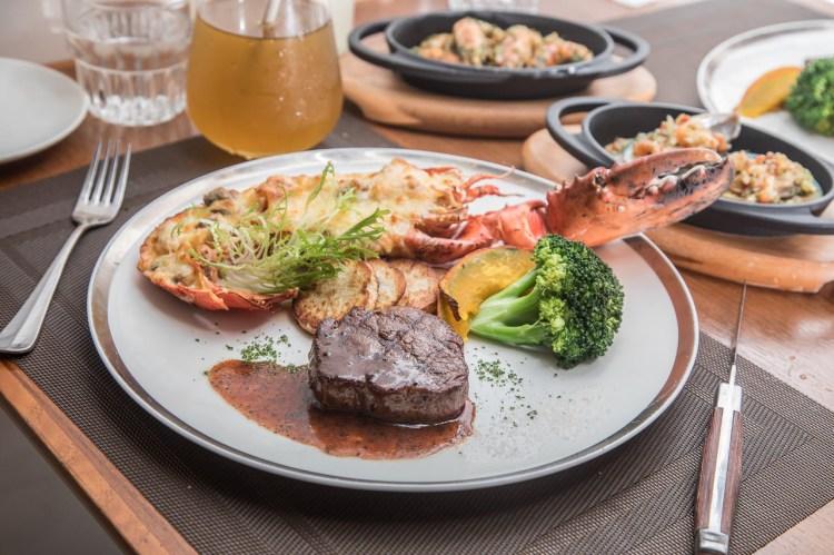 [台北大同]美國牛排拼龍蝦,超豪華海陸雙主菜!朵頤牛排Doricious-京站店
