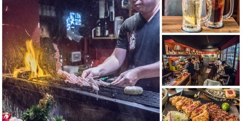 [台北大安]台北居酒屋推薦,私房料理串燒美食!大口喝酒大口吃肉的快感!三千子串燒居酒屋