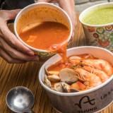 [桃園美食]義匠義式湯麵/地表第二好吃爆多蝦蝦義式湯麵!現正外帶第二份半價啦!