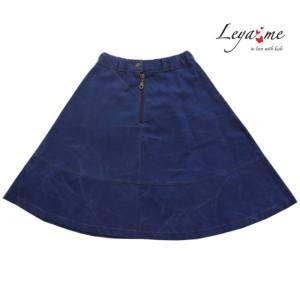 Юбка-трапеция детская из синей джинсы