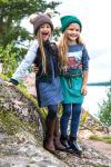 Бомбер детский черно-серый комбинированный с нашивкой на девочку