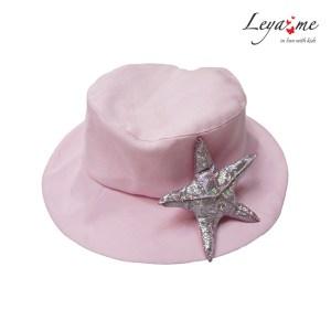 """Детская розовая панама с украшением """"Морская звезда"""""""