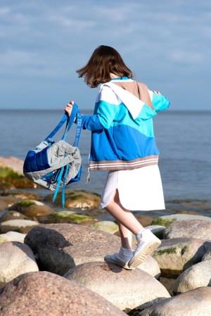 Стеганый детский рюкзак из светоотражающей ткани