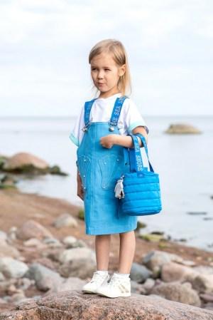 Бирюзовая детская стеганая сумка