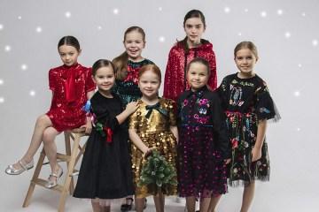 Нарядная детская одежда 2020, новогодняя коллекция, нарядные платья