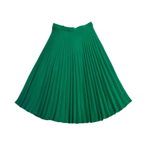Плиссированная юбка зеленая на девочку