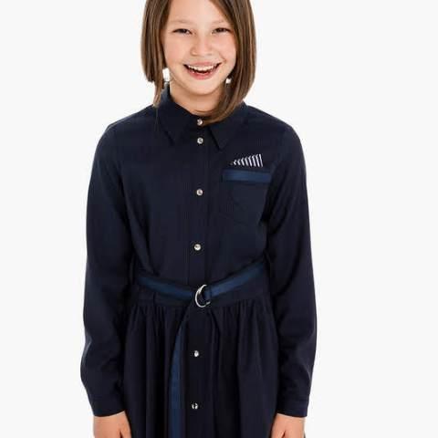 Платье-рубашка школьное