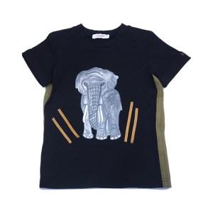 """Футболка детская """"Слон"""" черная"""