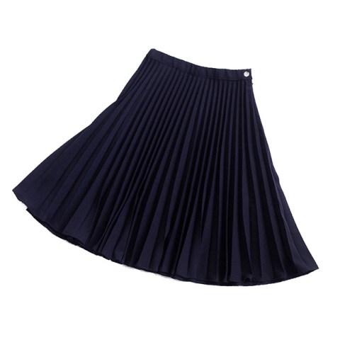 Синяя школьная юбка плиссе миди