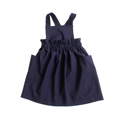 Сарафан школьный со съемными лямками и накладными карманами