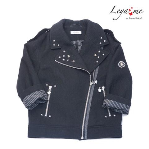 Куртка-косуха черная со звездами на девочку
