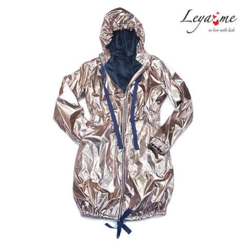 Куртка парка утепленная золотистая на девочку