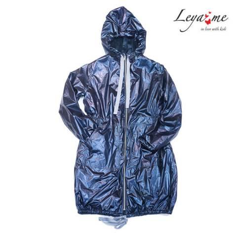 Куртка парка утепленная синяя на девочку