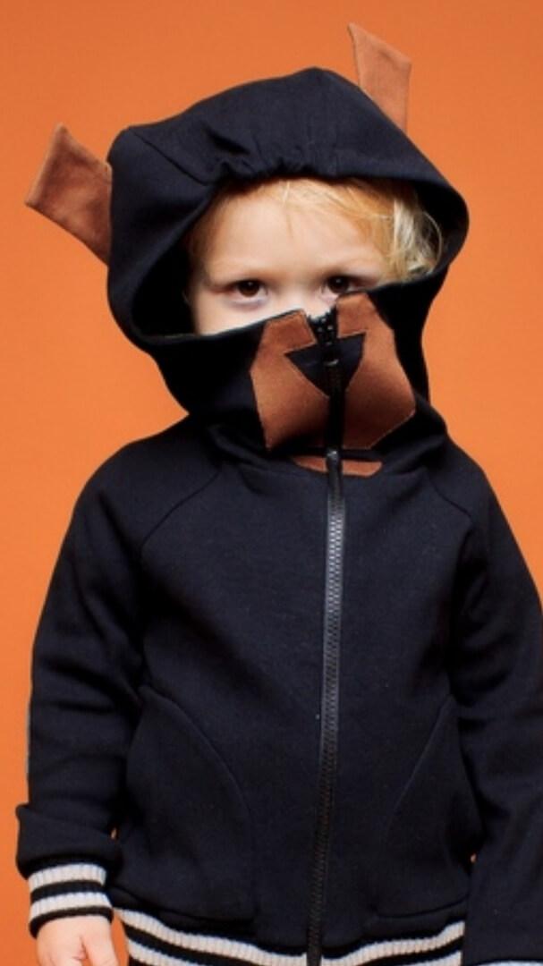 """Свитшот детский черный """"Grizzly"""""""