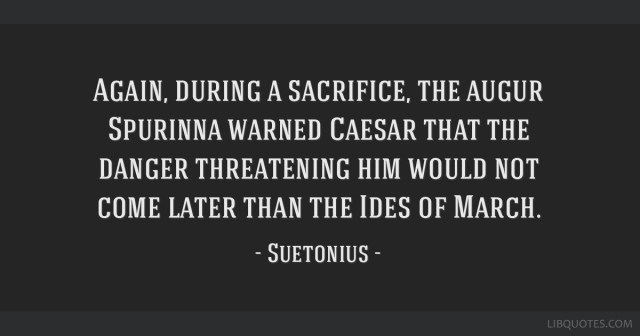 Image result for ides of march sacrifice