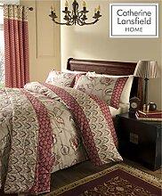 de lit et double rideaux assortis