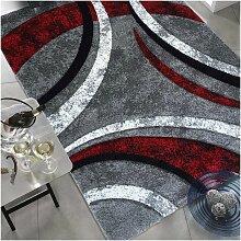 tapis salon rouge et gris comparer