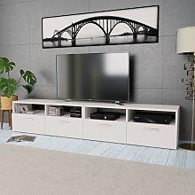 meuble tv bas blanc comparer les prix