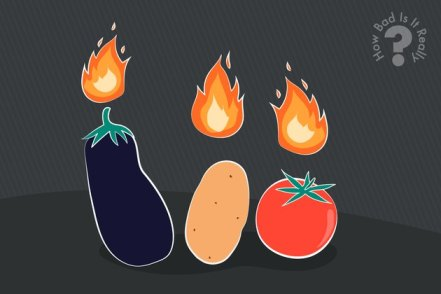 Illustration of nightshade vegetables that cause inflammation