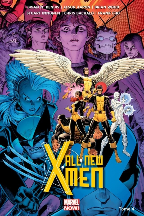 Couverture All-New X-Men (Marvel Now), tome 4 : La Bataille de l'Atome de Brian Michael Bendis, Jason Aaron, Brian Wood et collectif
