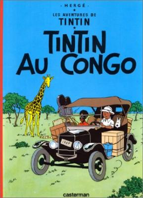 Couverture Les aventures de Tintin, tome 02 : Tintin au congo