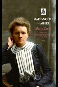 Couverture Marie Curie portrait d'une femme engaée 1914 -1918