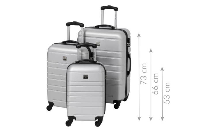 france bag 3 valises abs argent h 55 65 et 70 cm france